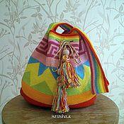 """Сумки и аксессуары ручной работы. Ярмарка Мастеров - ручная работа Сумка-мешок вязаная """" Мочила"""". Handmade."""