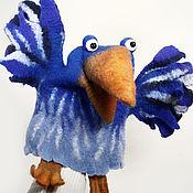 Куклы и игрушки ручной работы. Ярмарка Мастеров - ручная работа Игрушка - перчатка Ворона. Перчаточная кукла для кукольного театра. Handmade.