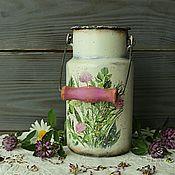 Бидоны ручной работы. Ярмарка Мастеров - ручная работа Бидончик винтажный Пряные травы в стиле прованс,кантри. Handmade.