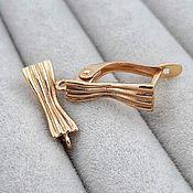 Материалы для творчества handmade. Livemaster - original item Earrings gold plated with lock (art. 2549). Handmade.