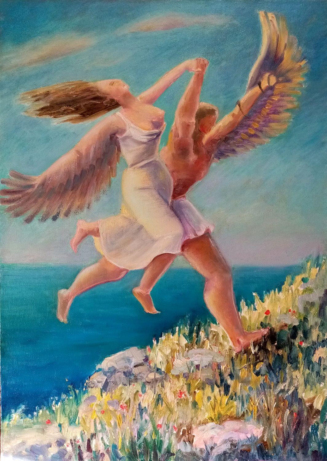 Картина маслом Два крыла на двоих, Картины, Нижний Новгород,  Фото №1