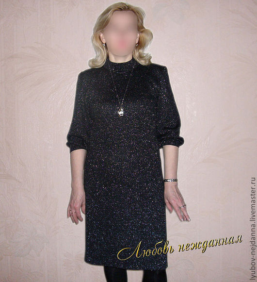 Платья ручной работы. Ярмарка Мастеров - ручная работа. Купить Платье Ночка. Handmade. Черный, платье вязаное, Платье нарядное