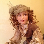 """Куклы и игрушки ручной работы. Ярмарка Мастеров - ручная работа """"За покупками"""" (кукла на велосипеде). Handmade."""