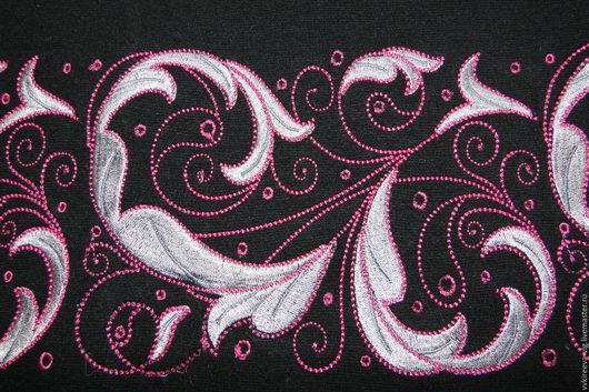 Платья ручной работы. Ярмарка Мастеров - ручная работа. Купить Платье с машинной вышивкой, индивидуальный пошив. Handmade. Черный, вышивка