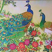 Картины и панно ручной работы. Ярмарка Мастеров - ручная работа Прекрасное зеленое. Handmade.