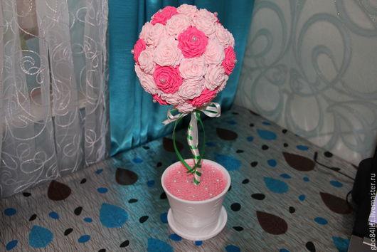 Топиарии ручной работы. Ярмарка Мастеров - ручная работа. Купить Весна. Handmade. Подарок девушке, топиарий ручной работы, цветы