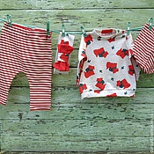 Работы для детей, ручной работы. Ярмарка Мастеров - ручная работа Комплект для девочки (свитшот, штанишки, повязка, шапочка). Handmade.