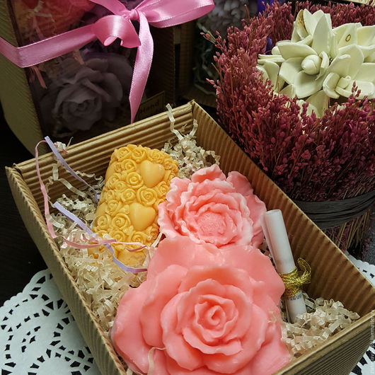 Мыло ручной работы. Ярмарка Мастеров - ручная работа. Купить Цветущий сад мал. (набор мыла подарочный). Handmade.
