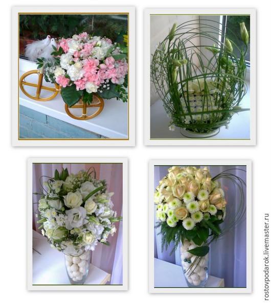 Букеты из живых цветов и конфет в Ростове-на-Дону