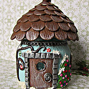 Посуда handmade. Livemaster - original item A house for fairies. Small house.New year`s set.Set of jars for spices.. Handmade.