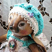 Куклы и игрушки ручной работы. Ярмарка Мастеров - ручная работа Tiny-Bunny. Крошка-Зая. Заюшка-девочка в стиле бохо.. Handmade.