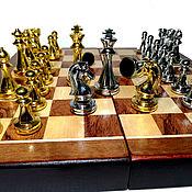 Активный отдых и развлечения handmade. Livemaster - original item Chess: Chess Classic, 30x30 cm, wood,shape metal.. Handmade.