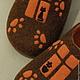 """Обувь ручной работы. Тапки """"Кошкин дом"""". Wool is cool (Базылева Анна). Интернет-магазин Ярмарка Мастеров. Шоколад"""