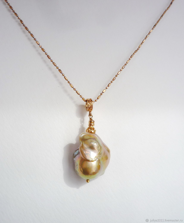 Earrings and pendant Baroque pearls Tropical fruit 2, Jewelry Sets, Nizhnij Tagil,  Фото №1