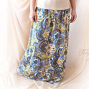 Одежда handmade. Livemaster - original item Long skirt in viscose Jersey