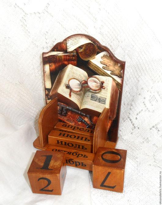 Календари ручной работы. Ярмарка Мастеров - ручная работа. Купить Вечный календарь Любимая книга. Handmade. Вечный календарь