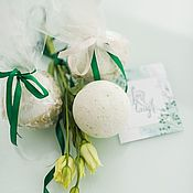 Bombs handmade. Livemaster - original item Spring bath bombs a Gift for any holiday white. Handmade.