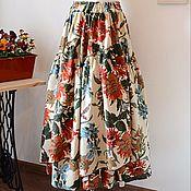 """Одежда ручной работы. Ярмарка Мастеров - ручная работа Юбка в бохо-стиле """"Оранжевые цветы"""". Handmade."""