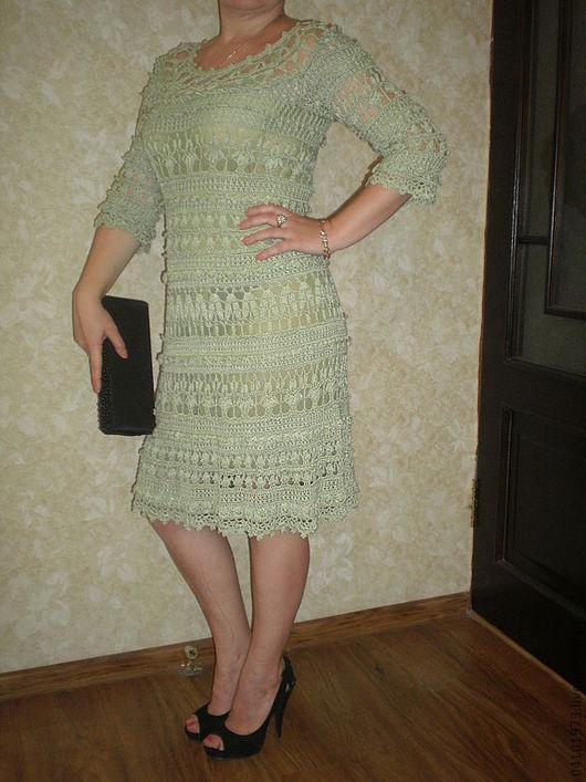 Платья ручной работы. Ярмарка Мастеров - ручная работа. Купить платье ОЛИВИЯ. Handmade. Мятный, вискозный шёлк