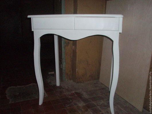 Мебель ручной работы. Ярмарка Мастеров - ручная работа. Купить Туалетный столик. Handmade. Бежевый, интерьер, акриловая краска