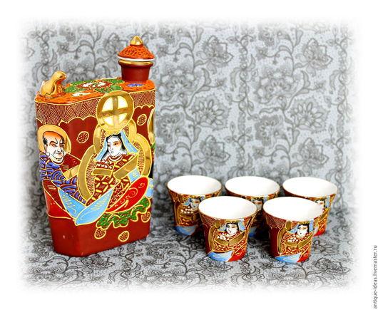 Винтажная посуда. Ярмарка Мастеров - ручная работа. Купить РАРИТЕТ 1950-е  Поющий набор для саке с литофанией, Япония. Handmade.