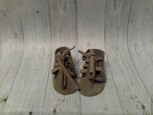 Одежда для кукол ручной работы. Ярмарка Мастеров - ручная работа. Купить Ботинки для кукол (48). Handmade. Коричневый, кукольная миниатюра