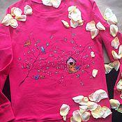 Одежда ручной работы. Ярмарка Мастеров - ручная работа Свитшот с росписью Lovers birds. Handmade.