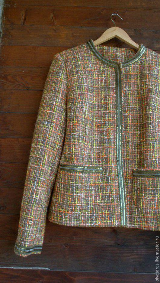 """Пиджаки, жакеты ручной работы. Ярмарка Мастеров - ручная работа. Купить Жакет """" Осенний цвет Киото"""".. Handmade."""