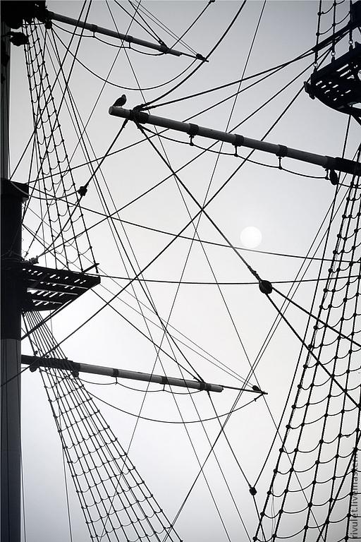 Черно-белая геометрическая абстракция, морская тема фотокартина для современного интерьера «Азы морской геометрии», Санкт-Петербург, Елена Ануфриева