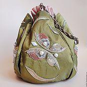 Сумки и аксессуары handmade. Livemaster - original item Handbag DELICATE BUD taffeta, silk, pearls, sequins, beads, swarovski. Handmade.