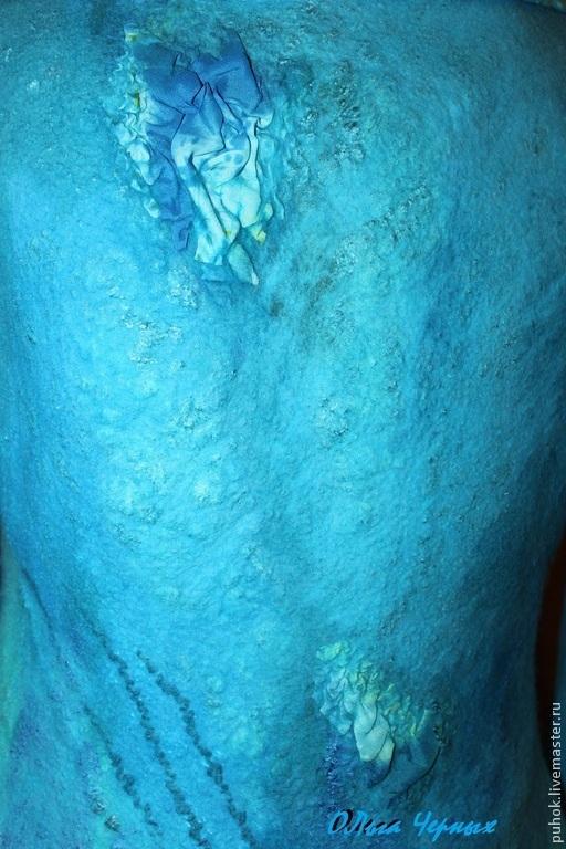 """Верхняя одежда ручной работы. Ярмарка Мастеров - ручная работа. Купить Пальто валяное  """"Сердце океана"""". Handmade. Пальто валяное"""