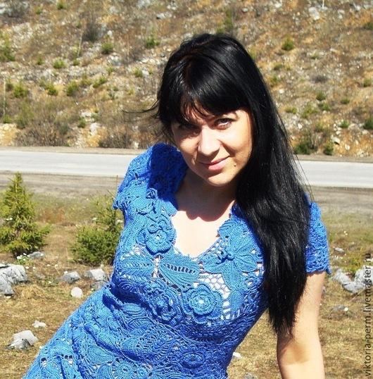 """Платья ручной работы. Ярмарка Мастеров - ручная работа. Купить Авторская работа.Платье """"  Blue dream"""". Handmade. Синий"""