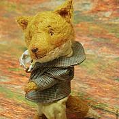 Куклы и игрушки ручной работы. Ярмарка Мастеров - ручная работа Тедди лис Шерлок. Handmade.