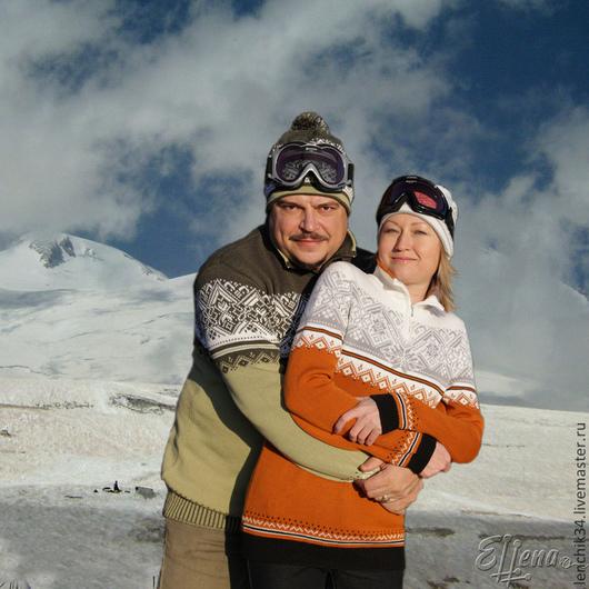 свитера для двоих в стиле family look