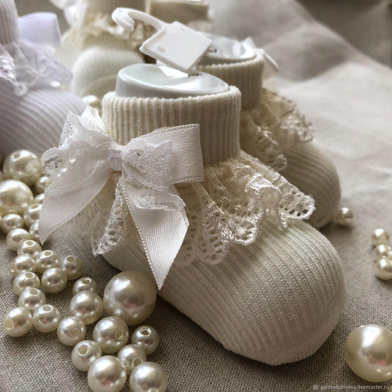Носочки для крещения, Комплект для крещения, Лермонтов,  Фото №1
