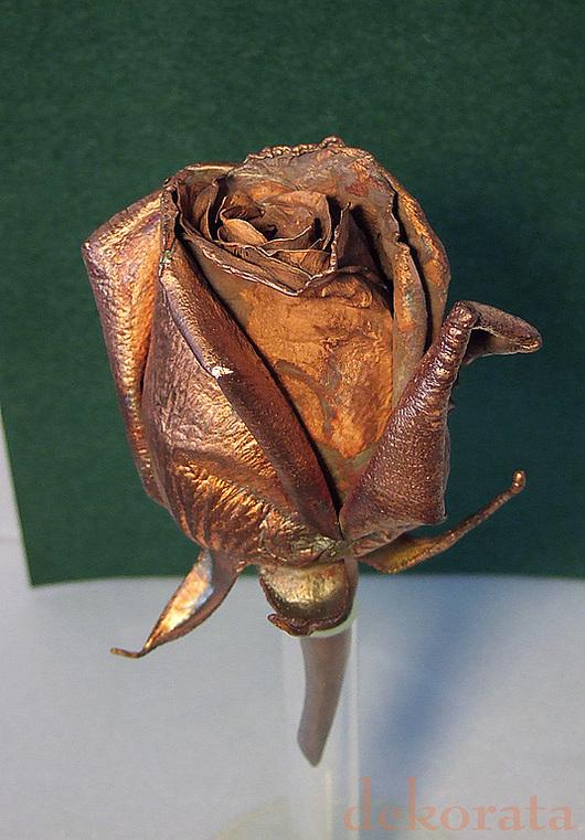 Статуэтки ручной работы. Ярмарка Мастеров - ручная работа. Купить Медная роза. Handmade. Роза, гальванопластика, металл, необычный подарок