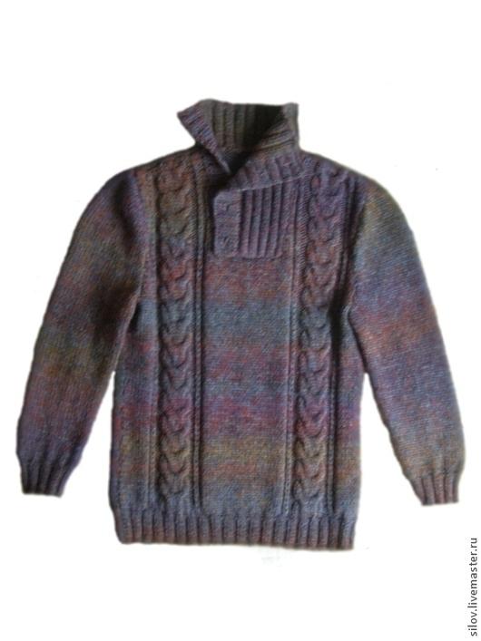 Для мужчин, ручной работы. Ярмарка Мастеров - ручная работа. Купить Очень теплый вязаный свитер 101. Handmade. заказать