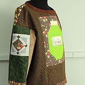 """Одежда ручной работы. Ярмарка Мастеров - ручная работа Блуза """"Любимое варенье"""" свитшот пэчворк.. Handmade."""