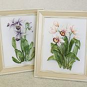 Картины и панно handmade. Livemaster - original item Orchids. Handmade.