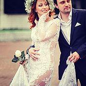 Свадебный салон handmade. Livemaster - original item Wedding dress lace 3D
