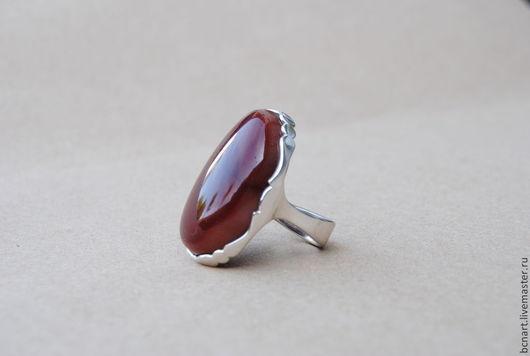 Кольца ручной работы. Ярмарка Мастеров - ручная работа. Купить Кольцо с сердоликом. Handmade. Кольцо из серебра, Сердолик, крупное кольцо