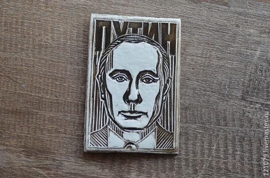 Магниты ручной работы. Ярмарка Мастеров - ручная работа. Купить Путин В.В.. Handmade. Серый, кремль, изображение путина