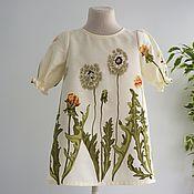 Платье ручной работы. Ярмарка Мастеров - ручная работа Платье с одуванчиками. Handmade.