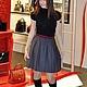 """Юбки ручной работы. Ярмарка Мастеров - ручная работа. Купить №12. Юбка коллекции """"RedLine"""", с двухцветным поясом, красная окантовка. Handmade."""