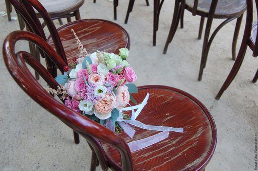 """Букеты ручной работы. Ярмарка Мастеров - ручная работа. Купить Букет невесты """"Пионовидные розы"""". Handmade. Комбинированный, флористика фото"""