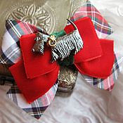 """Украшения ручной работы. Ярмарка Мастеров - ручная работа Брошь """" Шотландская собачка """". Handmade."""