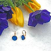 Украшения handmade. Livemaster - original item Bright blue graceful stud gift for your favorite