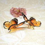 Украшения handmade. Livemaster - original item Transparent Earrings Fluttering Orange Butterfly Boho Jewelry Resin. Handmade.