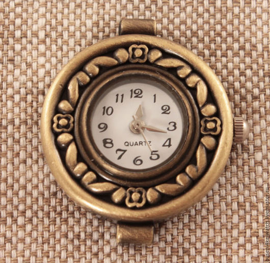 Для украшений ручной работы. Ярмарка Мастеров - ручная работа. Купить Основа для часов Цветочный узор, античная бронза (1шт). Handmade.
