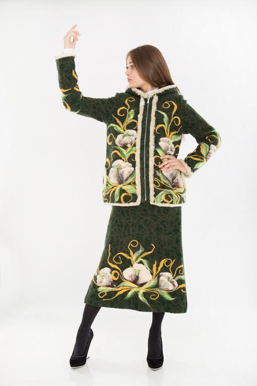 Верхняя одежда ручной работы. Ярмарка Мастеров - ручная работа. Купить Комплект К 101. Handmade. Хаки, стильные вещи